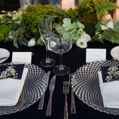 celestial menu table setting