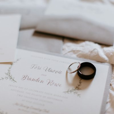 rustic chic layered wedding invite